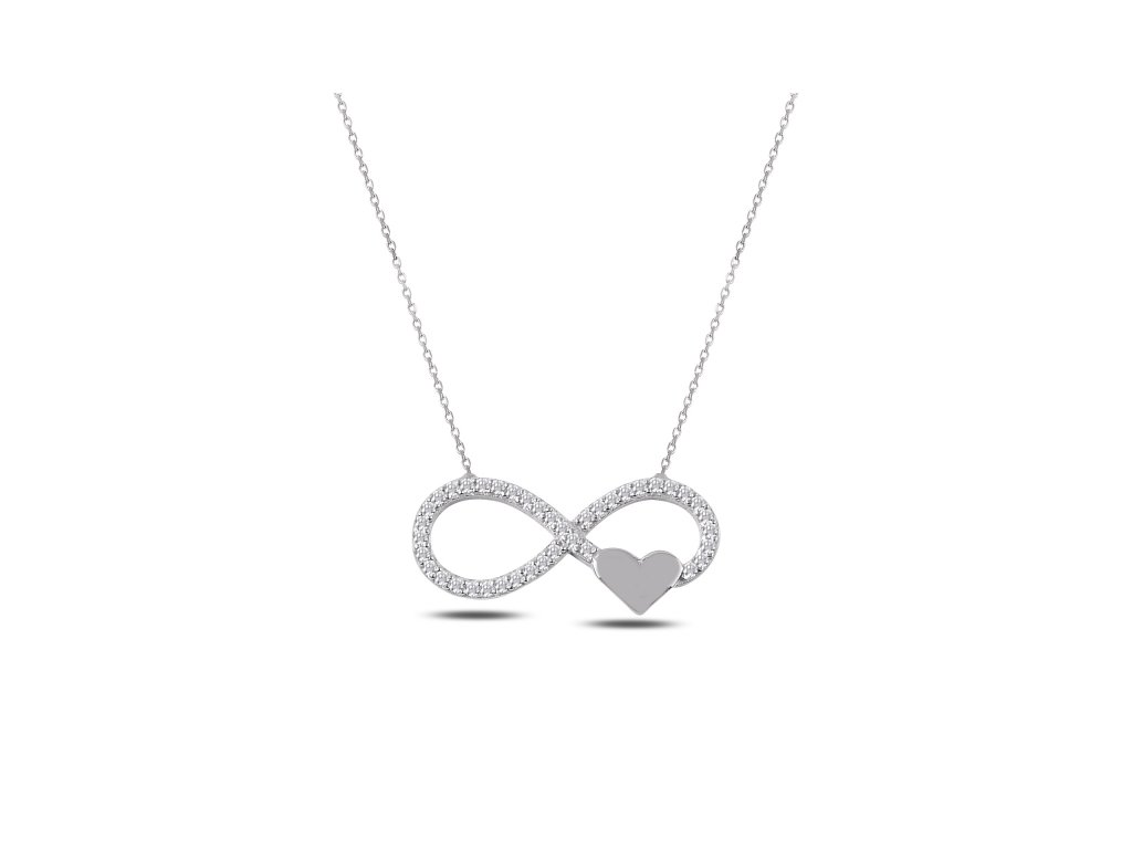 Stříbrný náhrdelník NEKONEČNÉ SRDCE