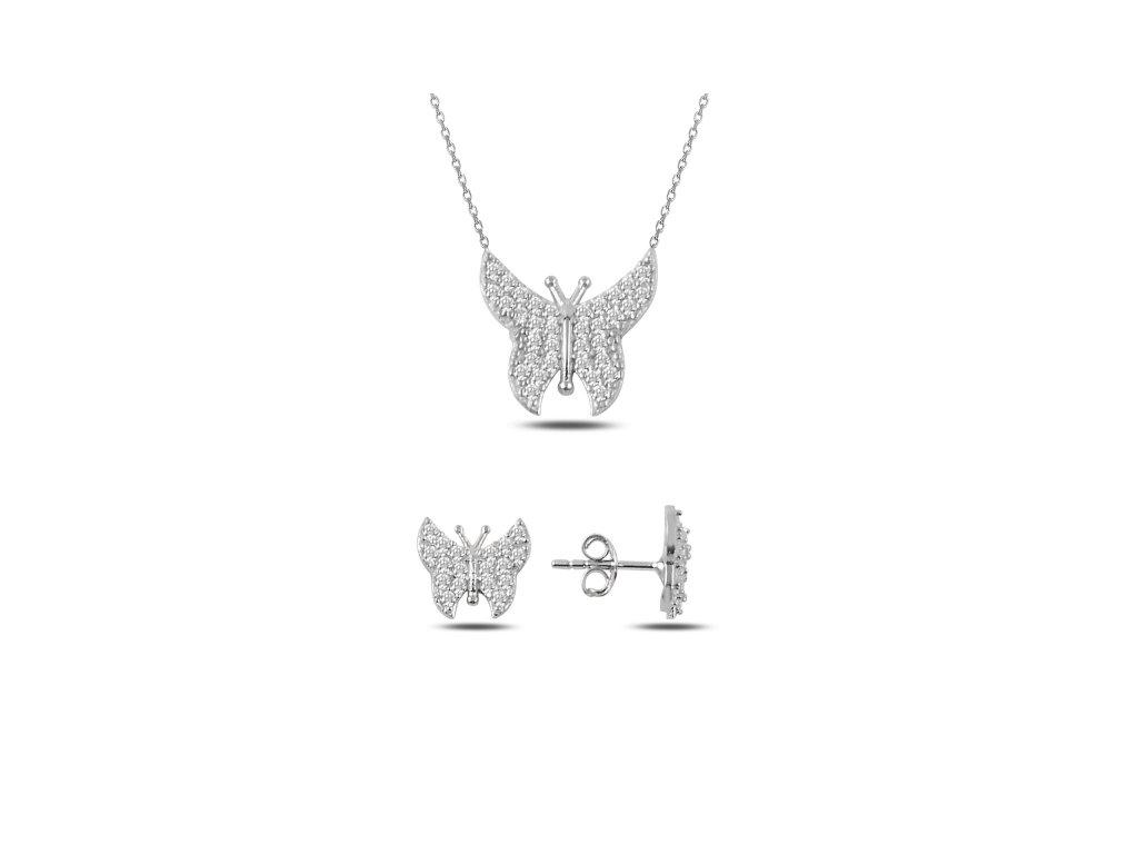 Sada stříbrných šperků MOTÝL