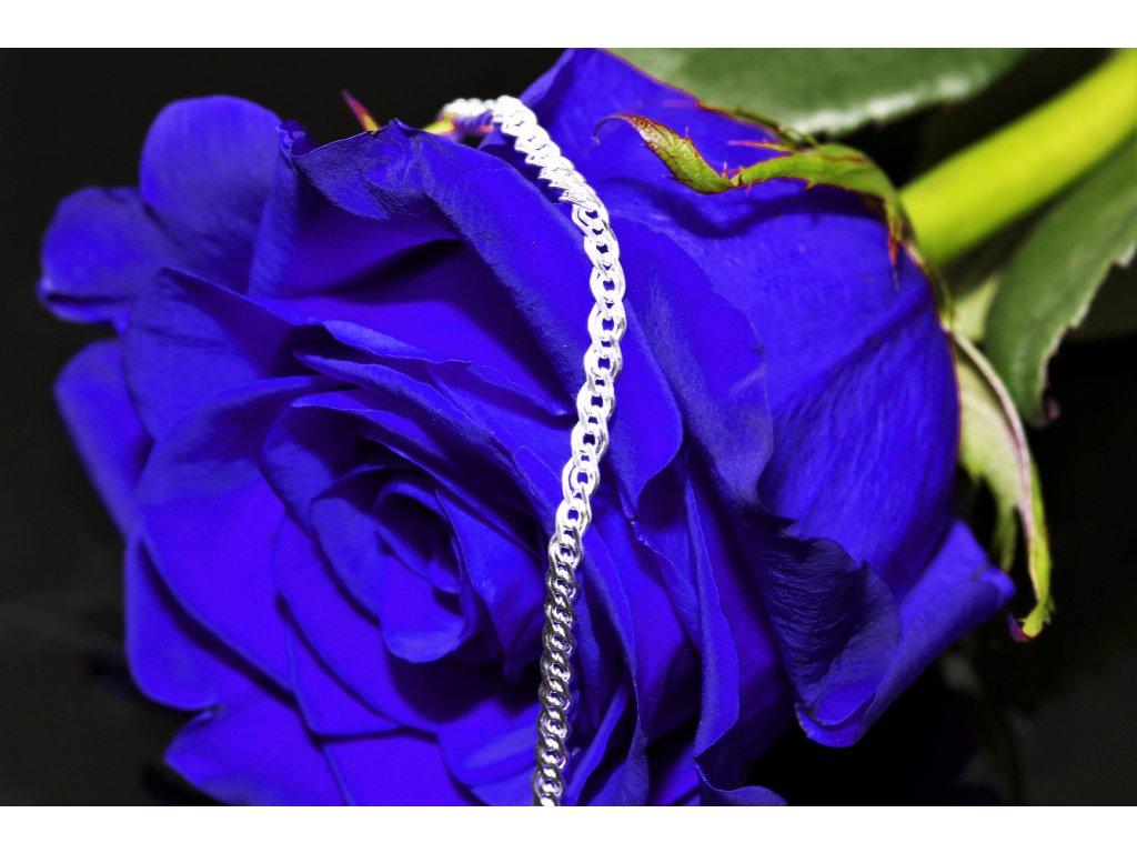 Dámský levný stříbrný náramek , dárek pro ženu