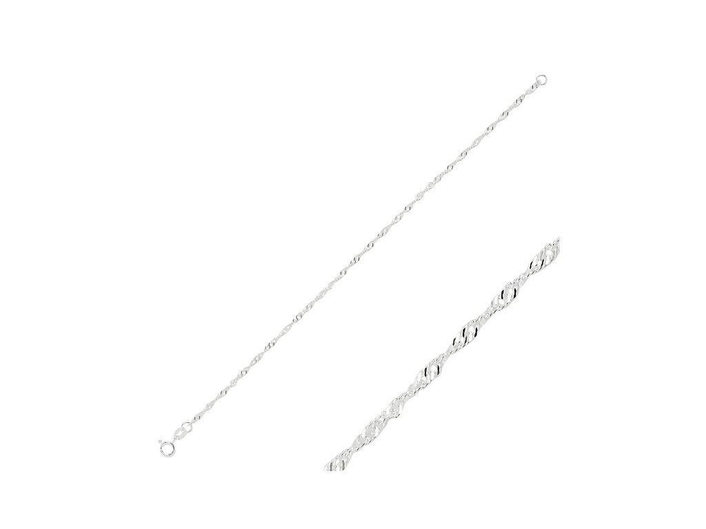 Stříbrný dámský náramek 19 cm OLIVIE