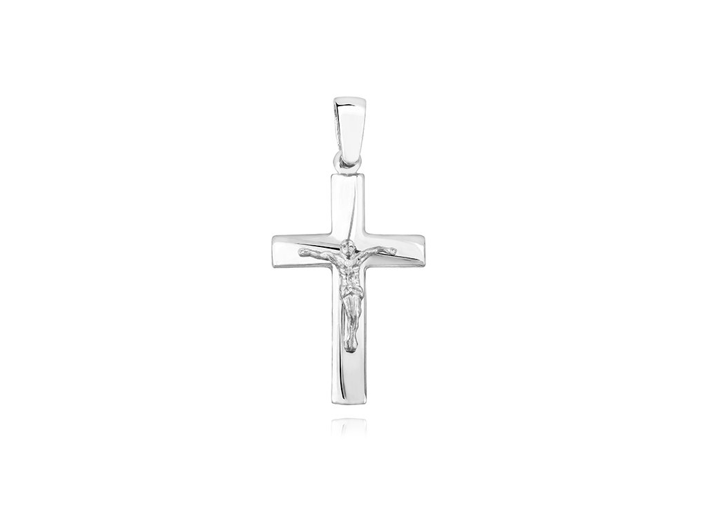 Stříbrný přívěsek KŘÍŽEK - JEŽÍŠ od OLIVIE