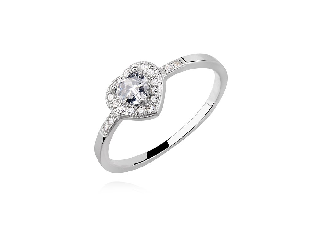 Stříbrný prsten ČIRÉ SRDCE