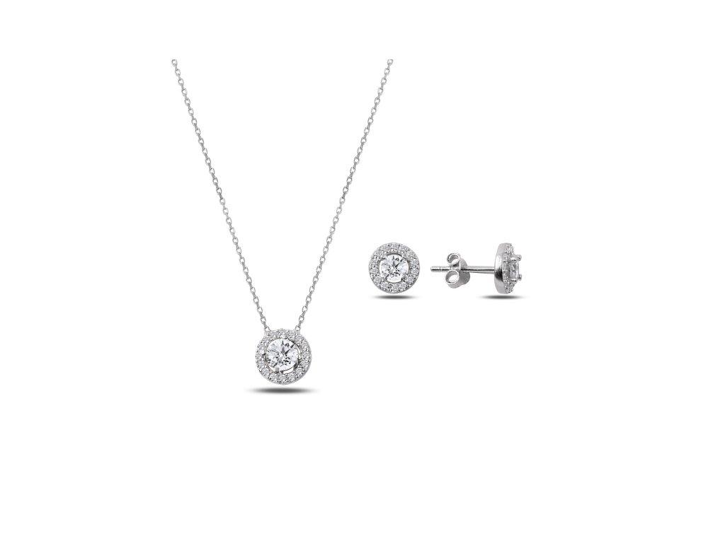 Sada stříbrných šperků ZIRKON
