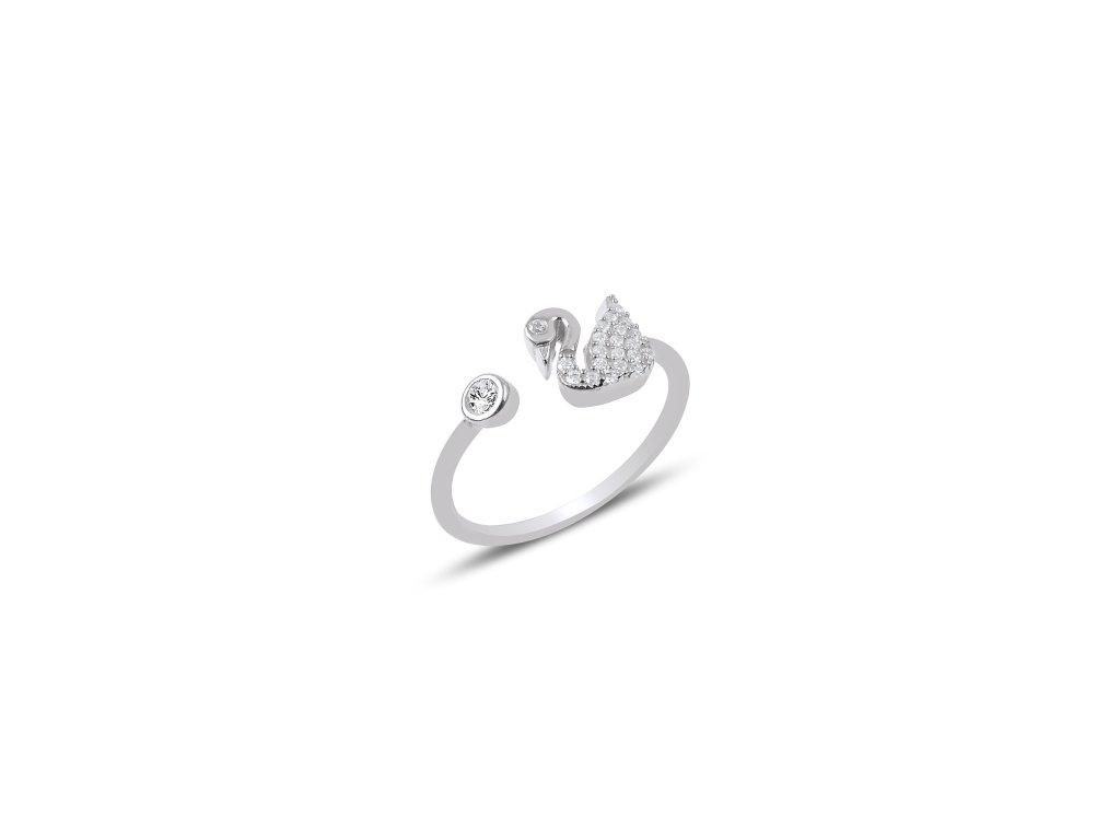 Stříbrný prsten LABUŤ