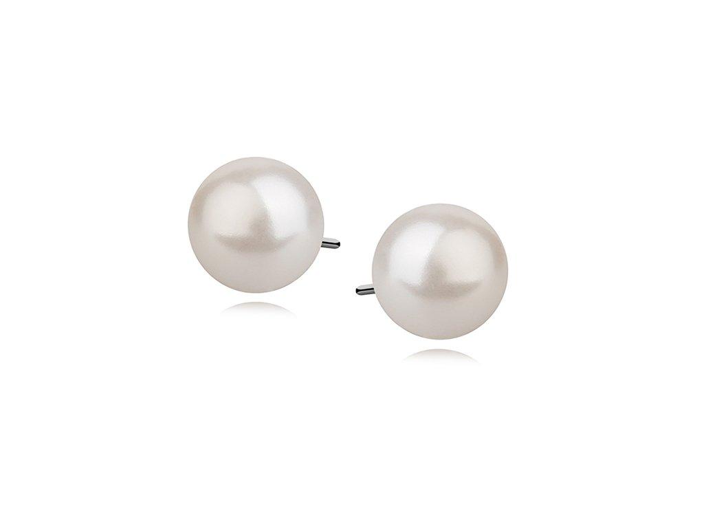 Stříbrné náušnice PERLY 8 mm, dárek pro ženu, maminku