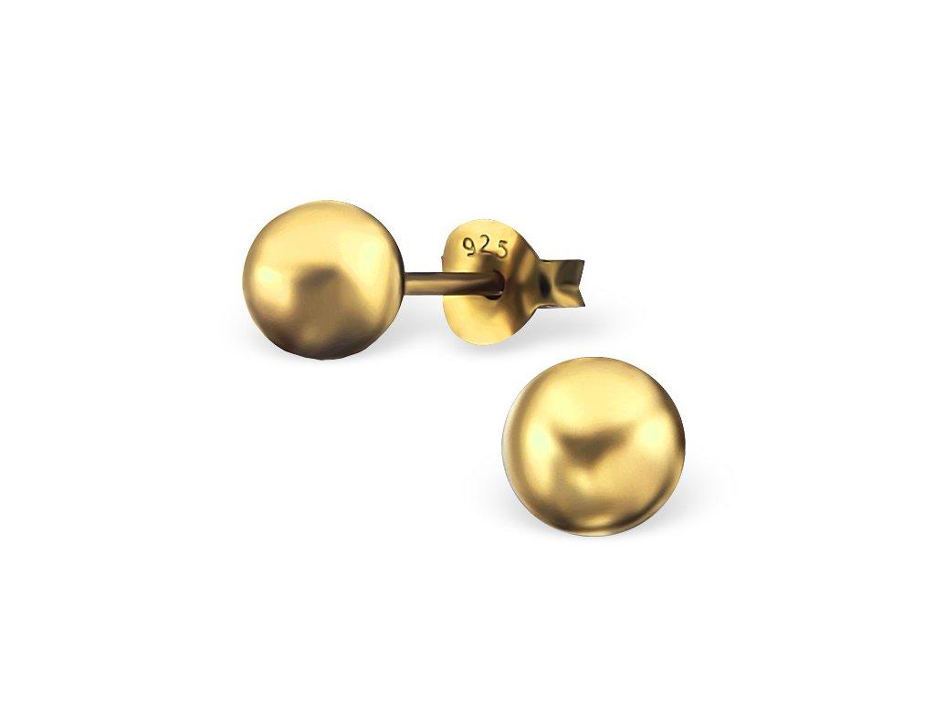 Stříbrné náušnice KULIČKY GOLD