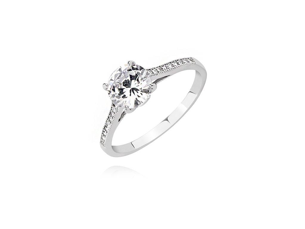 Nejkrásnější stříbrný zásnubní prsten od OLIVIE