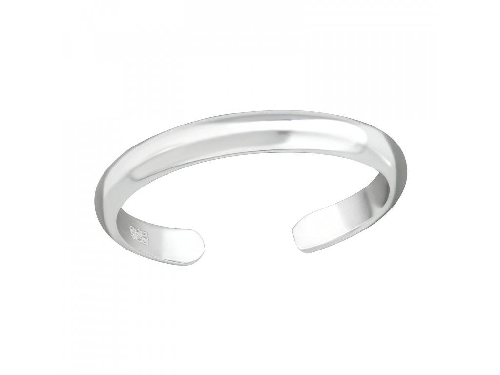 Stříbrný jednoduchý prsten na nohu