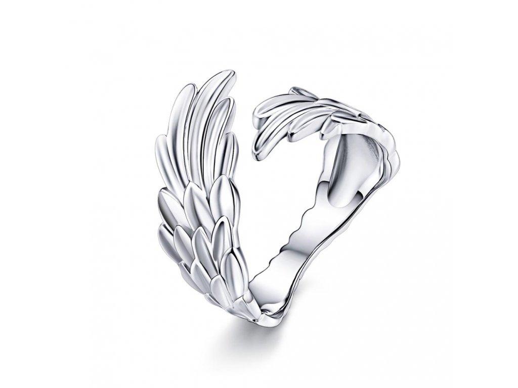 KŘÍDLA stříbrný prsten od Olivie