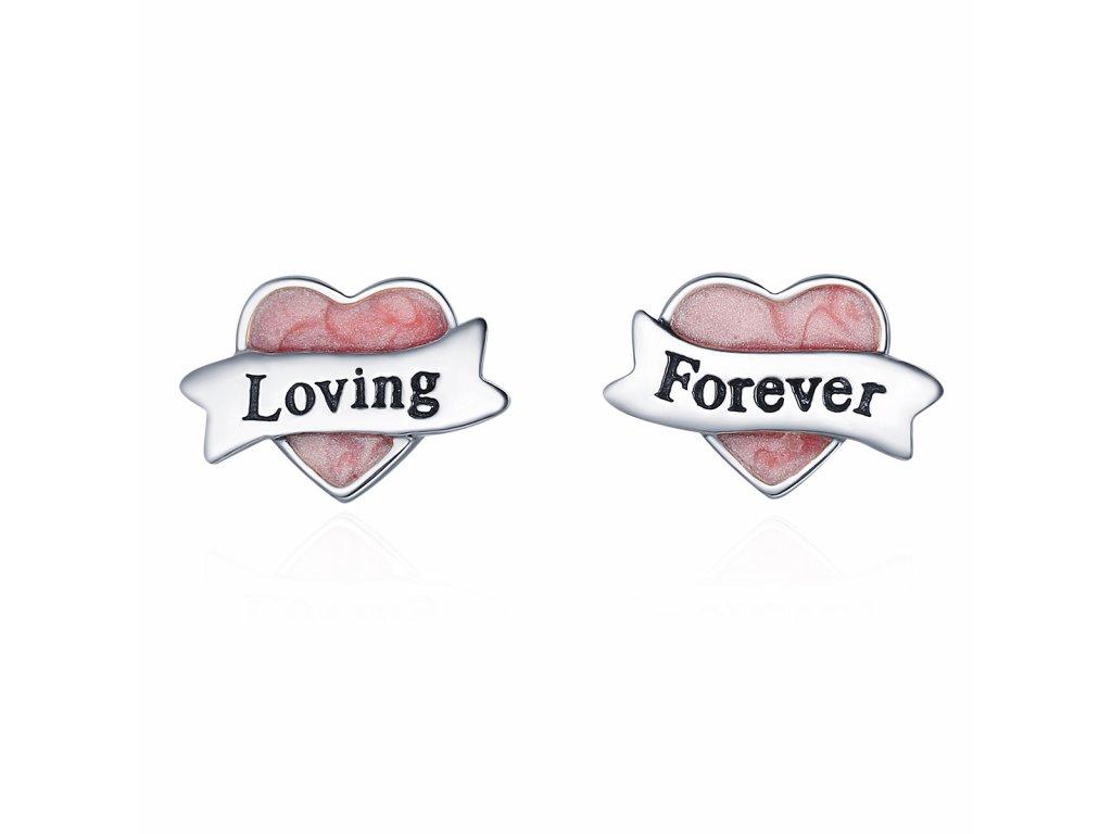 Stříbrné náušnice LOVING FOREVER