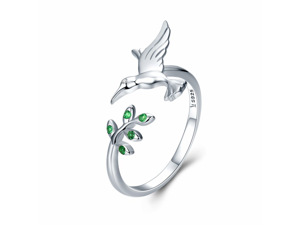 Stříbrný prsten KOLIBŘÍK