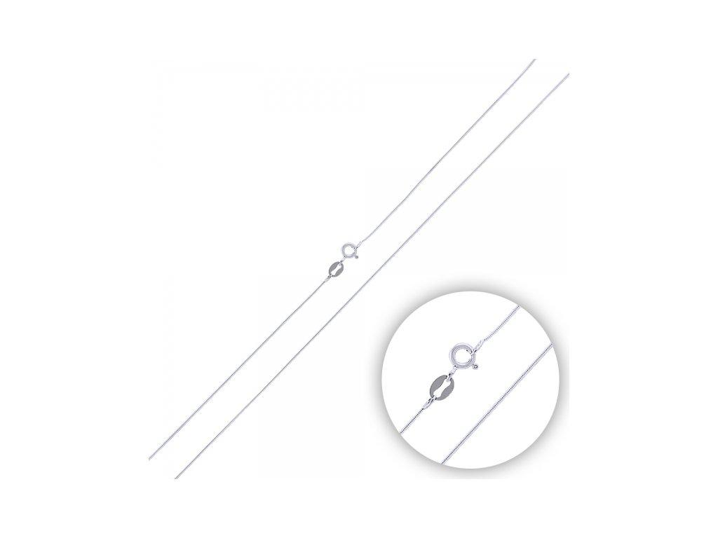 Stříbrný rhodiovaný řetízek HAD 55 cm