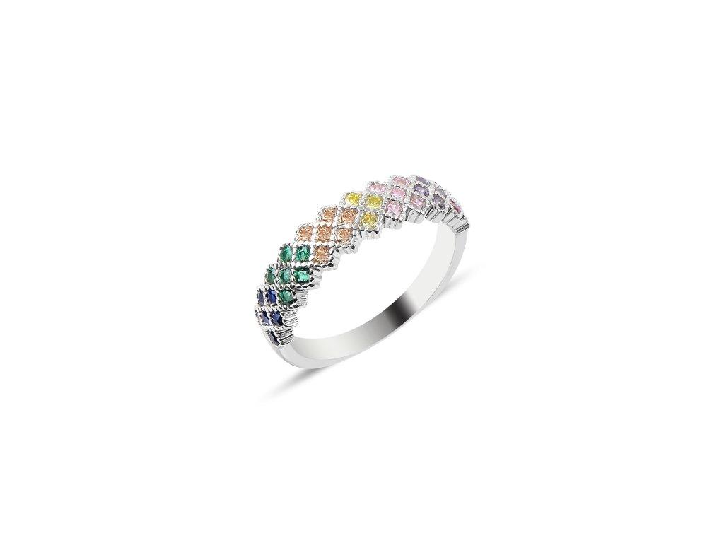 Stříbrný prsten COLORS od OLIVIE