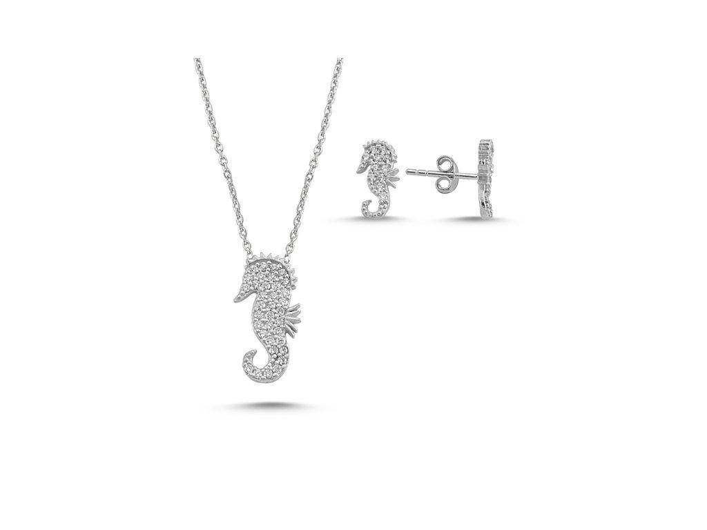 Sada stříbrných šperků MOŘSKÝ KONÍK