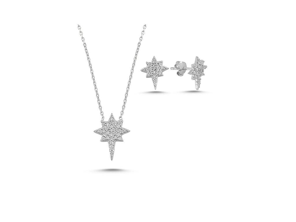 Sada stříbrných šperků SEVERNÍ HVĚZDA