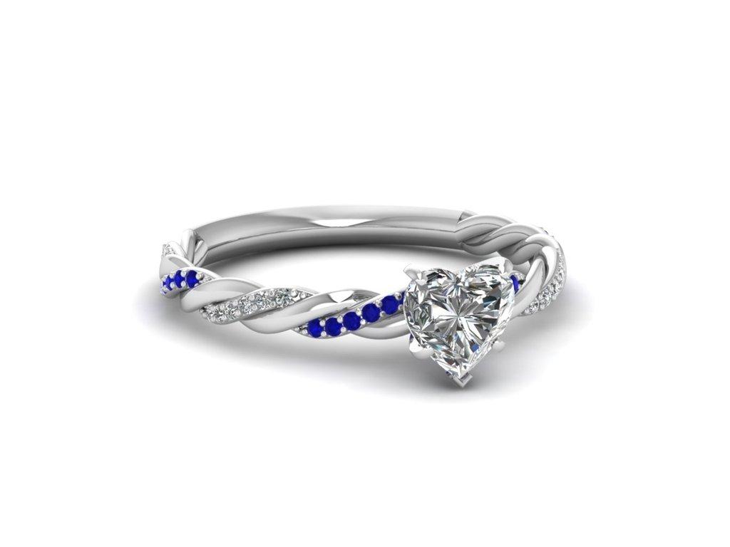 Rhodiovaný stříbrný prsten se srdíčkem. Krásný dárek k Valentýnu, narozeninám nebo k Vánocům pro ženu, partnerku, manželku.