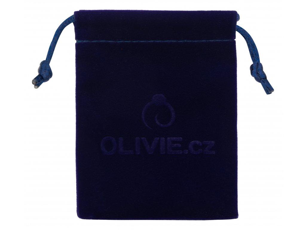 Modrý originální sametový pytlík OLIVIE na úschovu šperků