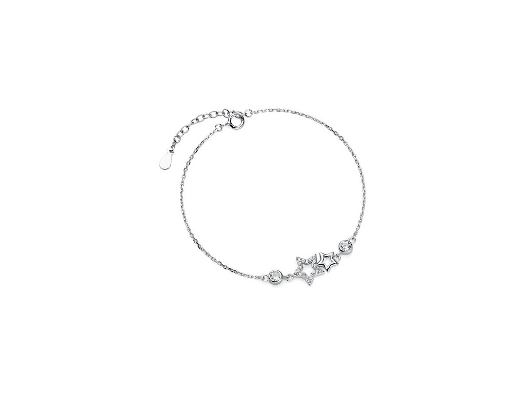 Stříbrný (925) náramek s hvězdami_olivie