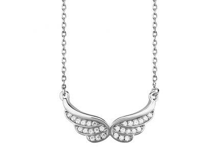 Stříbrný řetízek ANDĚLSKÁ KŘÍDLA od OLIVIE. Krásný dárek k Vánocům nebo narozeninám pro ženu.