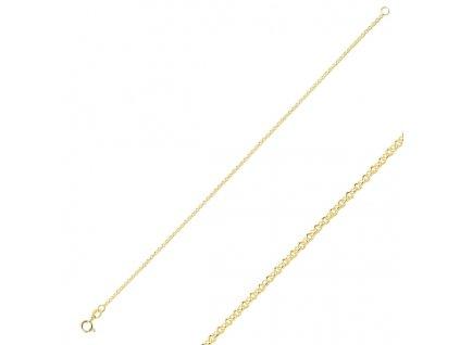 Stříbrný pozlacený 18cm náramek GOLD