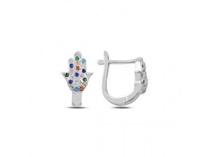 HAMSA aneb ruka Fátimy = ochranný symbol. Dodává sebevědomí, zbavuje strachu, chrání před neštěstím.