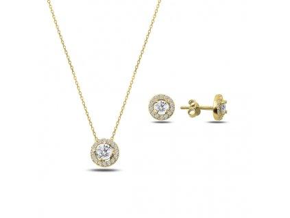 Sada stříbrných šperků ZIRKON GOLD