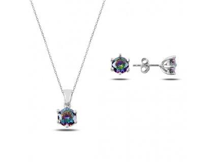 Sada stříbrných šperků MYSTICKÝ TOPAZ