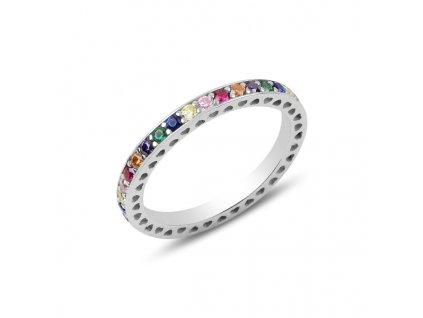 Stříbrný prsten COLORS vícebarevný