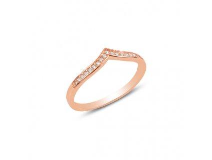 Stříbrný prsten ŠIPKA ROSE, růžově zlaceno.