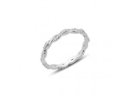 Stříbrný propletený prsten
