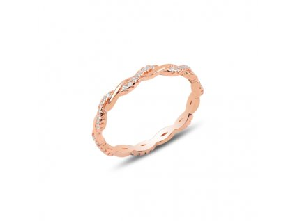 Stříbrný propletený prsten ROSE
