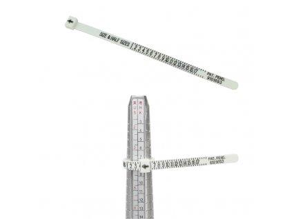 Plastový měřič velikosti prstenu