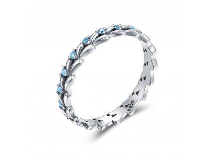 Stříbrný prsten MODRÉ Z NEBE