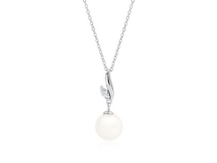 Stříbrný řetízek s perlou
