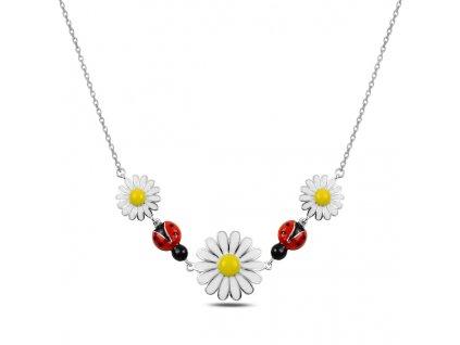 Stříbrný náhrdelník BERUŠKY A SEDMIKRÁSKY