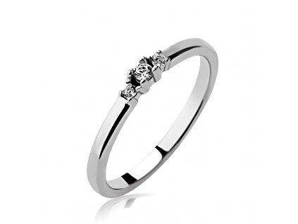 Zásnubní prsten ze stříbra (925)