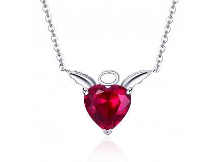 Stříbrný náhrdelník ANDĚL a ĎÁBEL