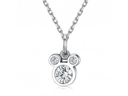 DISNEY Stříbrný náhrdelník MICKEY MOUSE