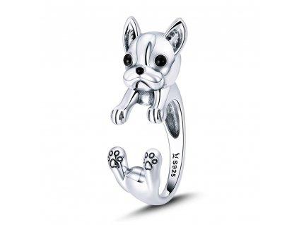 BULDOČEK stříbrný prsten