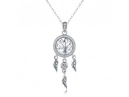 LAPAČ SNŮ stříbrný náhrdelník