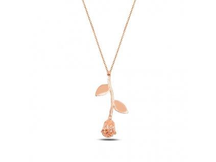 Stříbrný náhrdelník ROSE RŮŽE