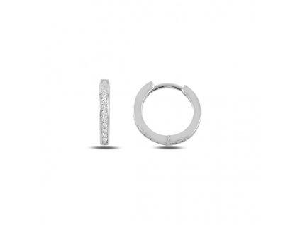 Stříbrné luxusní náušnice zirkonové kroužky