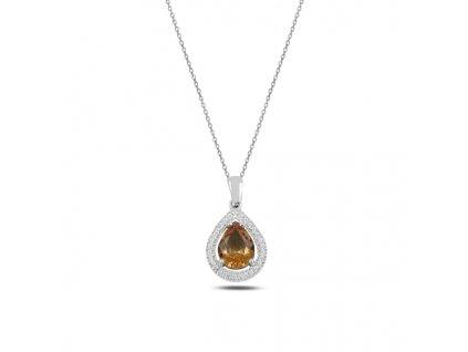 Stříbrný náhrdelník SULTANIT