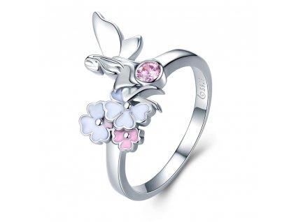 Stříbrný prsten TŘEŠŇOVÁ VÍLA