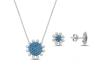 Sada stříbrných šperků KVÍTEK