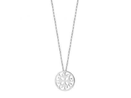 Stříbrný náhrdelník ŠTĚSTÍ
