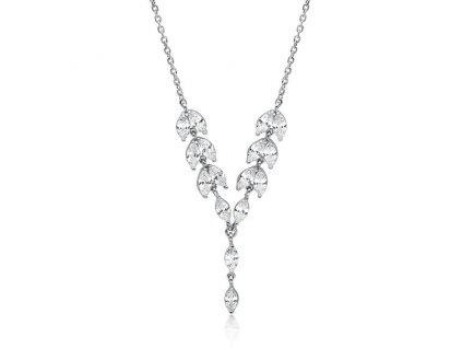Svatební stříbrný náhrdelník