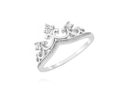 Stříbrný prstýnek KORUNKA, prstýnek pro princeznu