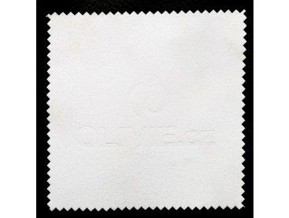 bílý hadřík, čistící utěrka na stříbro OLIVIE