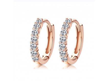 Stříbrné kroužky ROSE růžově zlacené. Krásný dárek pro ženu.